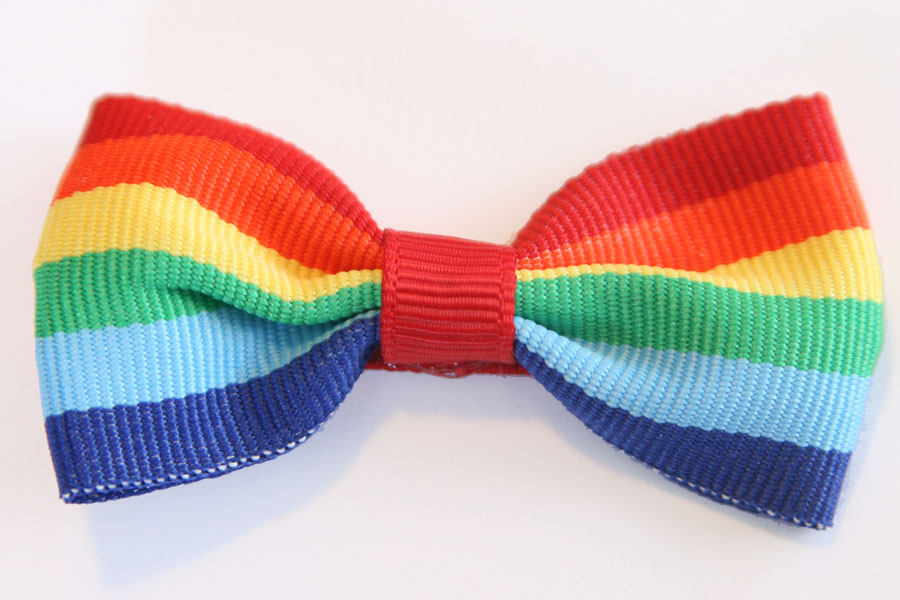 BIG Beautiful Bow - Rainbow Stripes