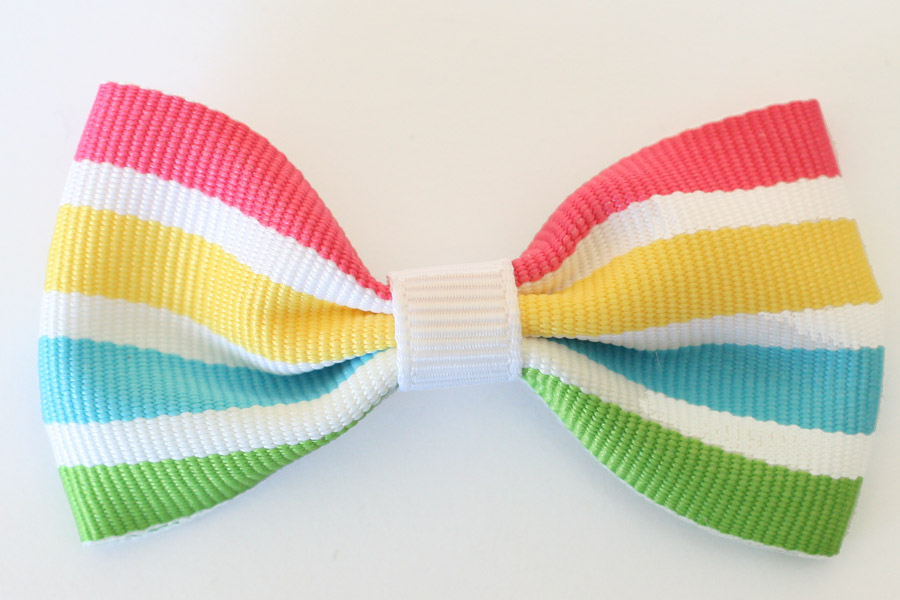 BIG Beautiful Bow - Rainbow Smoothie Stripes