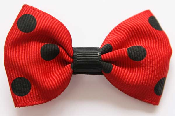 Big Beautiful Bows Red with Black Dots