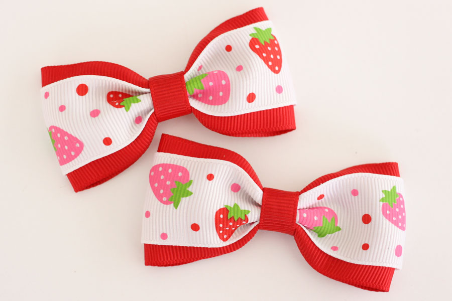 Strawberry Deluxe Bow