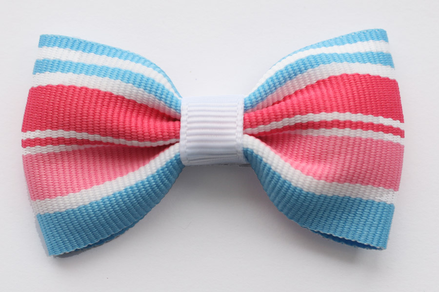 Big Beautiful Bow Icecream Stripes