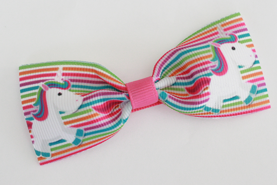 Unicorn Stripes Big Bow