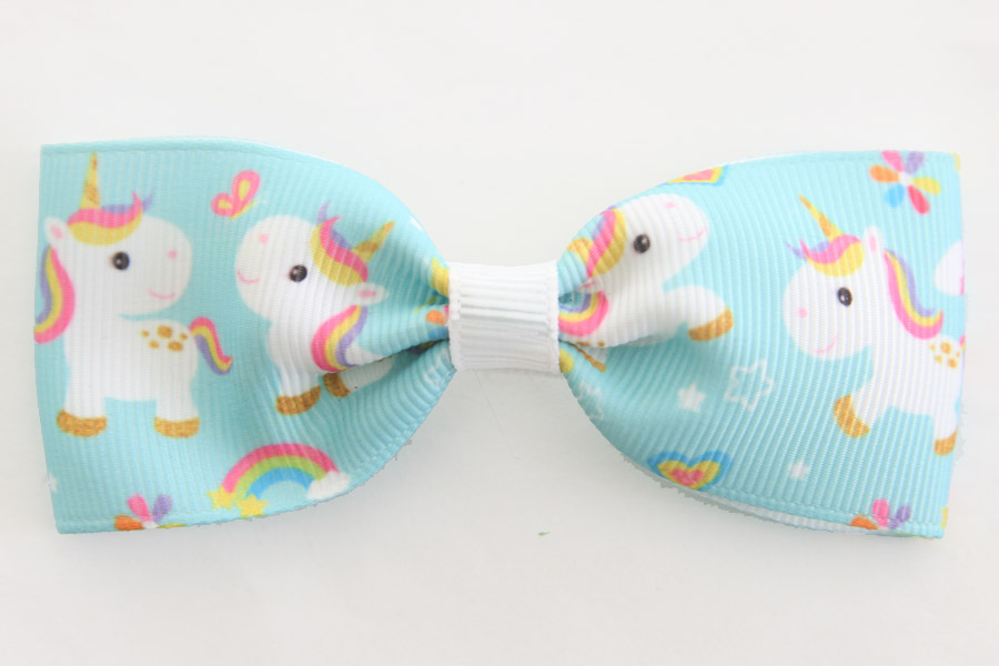 Unicorn Blue Big Bow