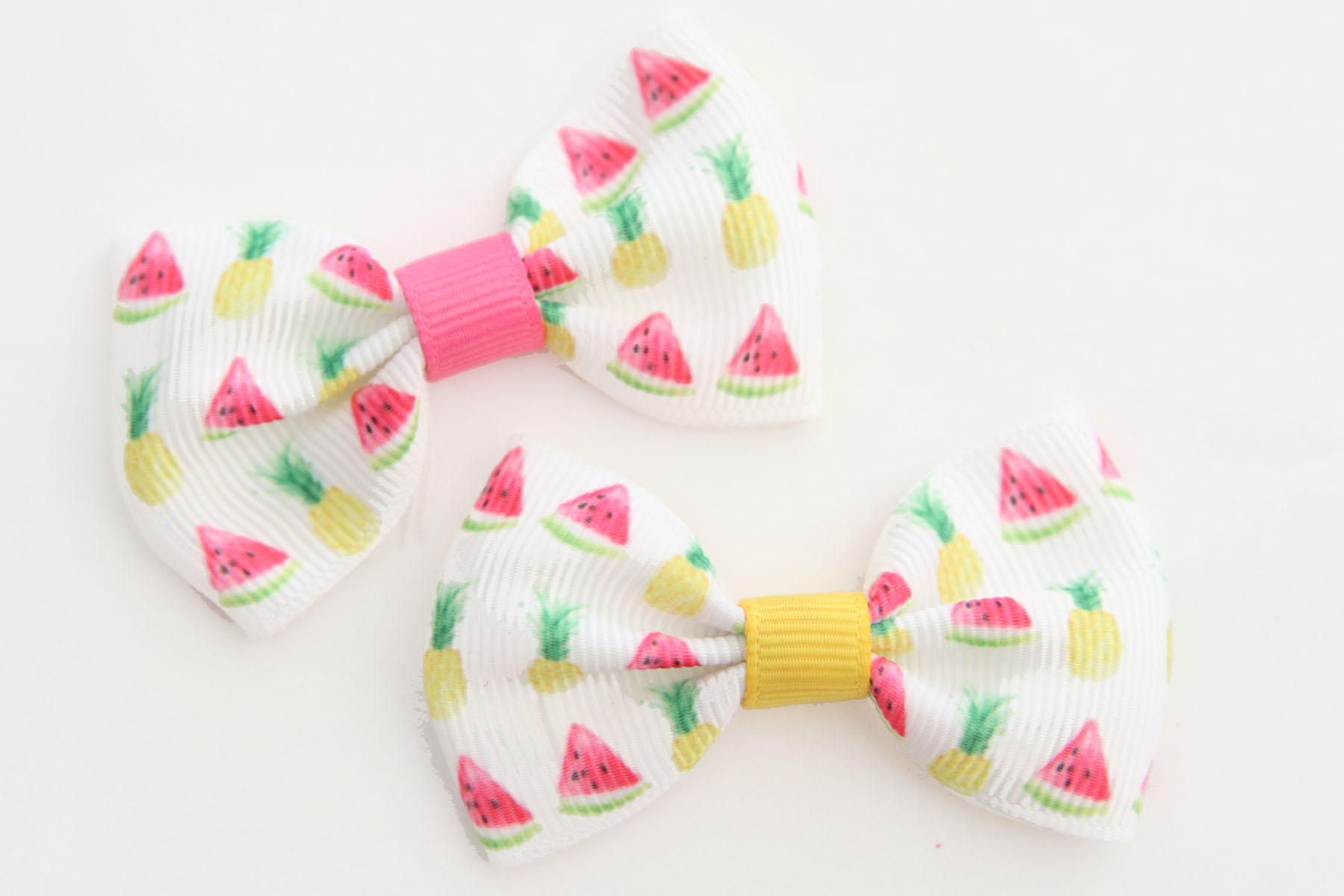 BIG Beautiful Bow - Summer Fruit Pineapple & Watermelons