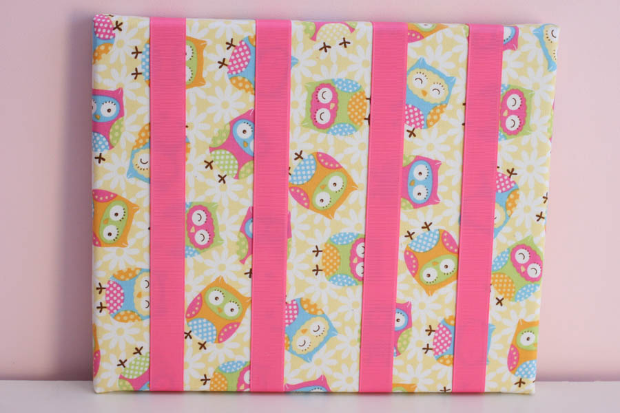 Owls Pink & Yellows Hairclip Board