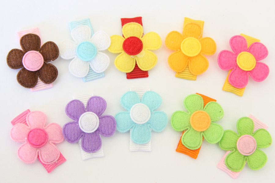 Baby Snap Clips Baby Daisies