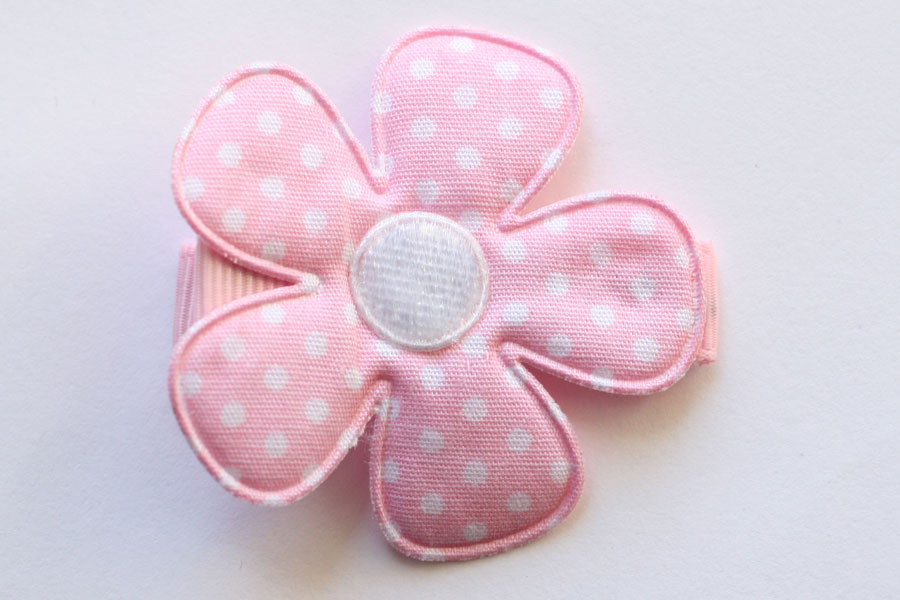 CC15027 Large Pink & White Dotty Flower