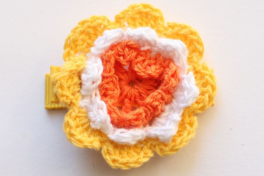 CC15029 Large Crochet Flower