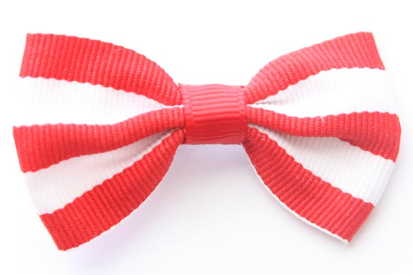 Christmas Big Beautiful Bows Red and White Stripes