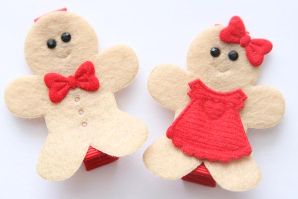 Christmas Gingerbread People Appliques