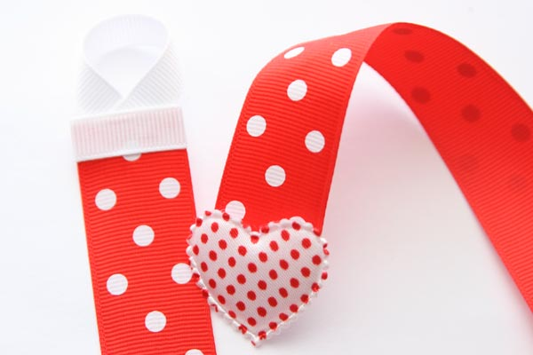 Christmas Hairclip Holder - Red with White Dots