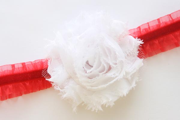 Christmas Headband Ruffles Red