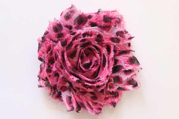 Shabby Chic Flower - Pink Leopard Dots