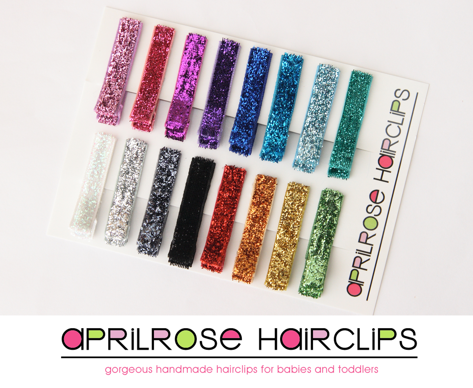 Glitter Clippies - Set of 16 clips