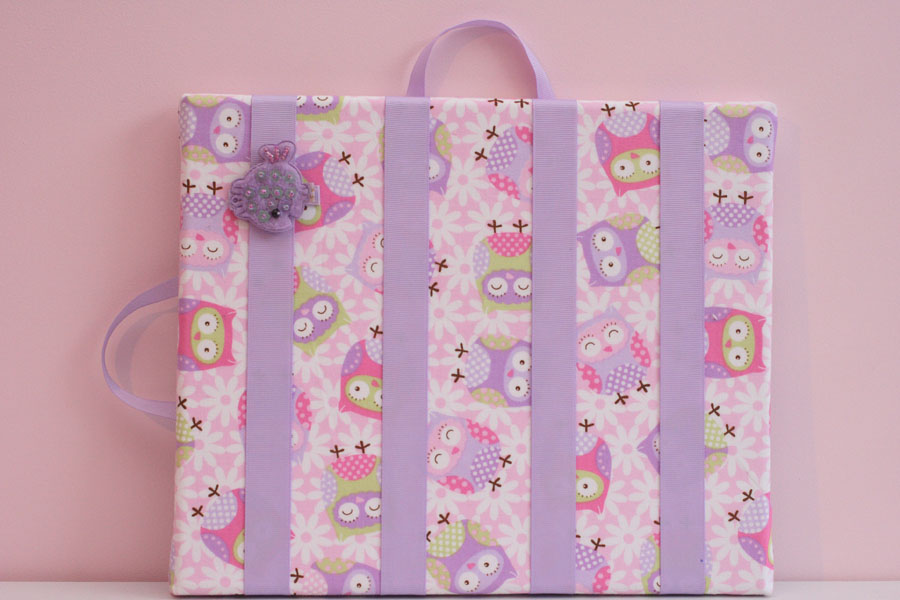 Owls Purple Hairclip Board