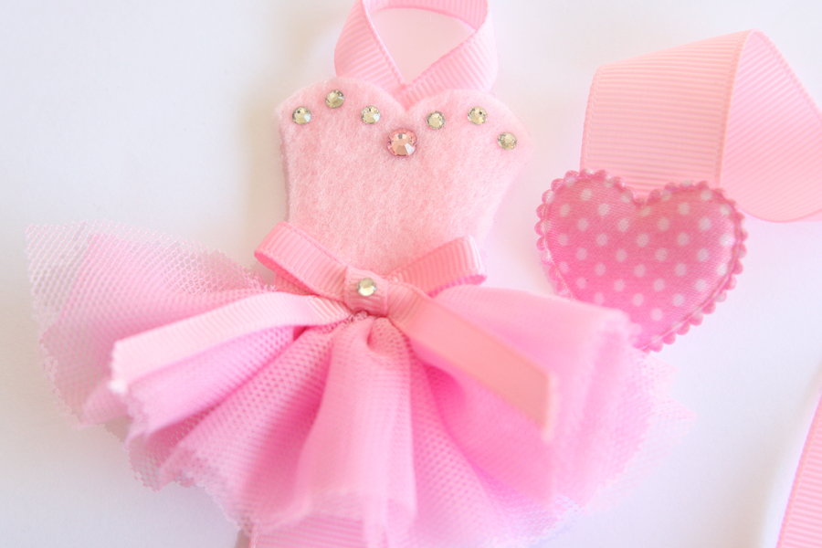 Tutu-Cute Hairclip Holder - PINK