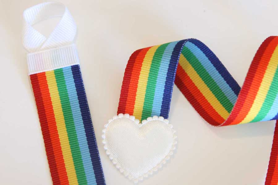 Basic Holder - Rainbow Stripes