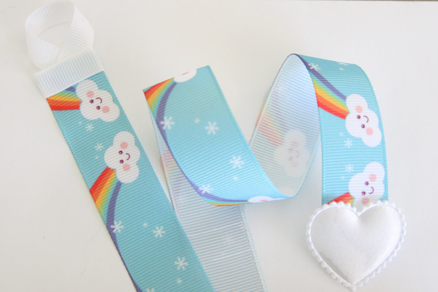 Basic Holder - Rainbows & Clouds Blue Holder