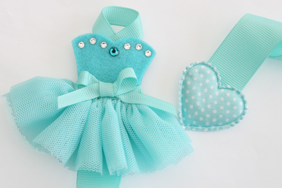 Tutu-Cute Hairclip Holder - AQUA