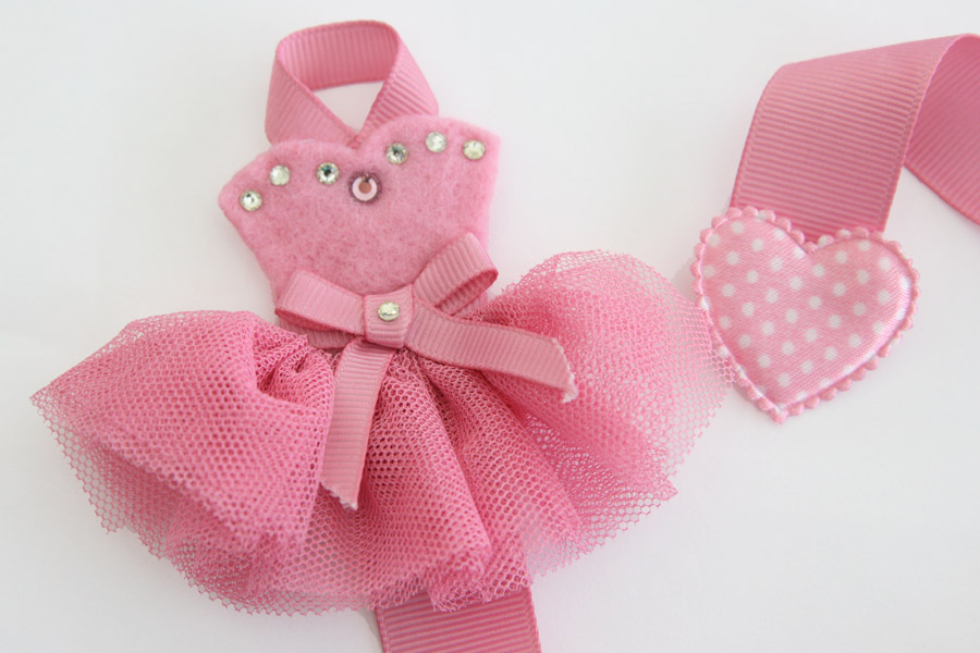 Tutu-Cute Hairclip Holder - DUSTY ROSE