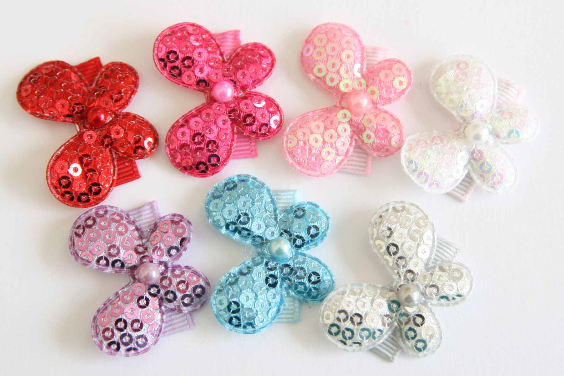 Baby Snap Clips Sequin Butterflies