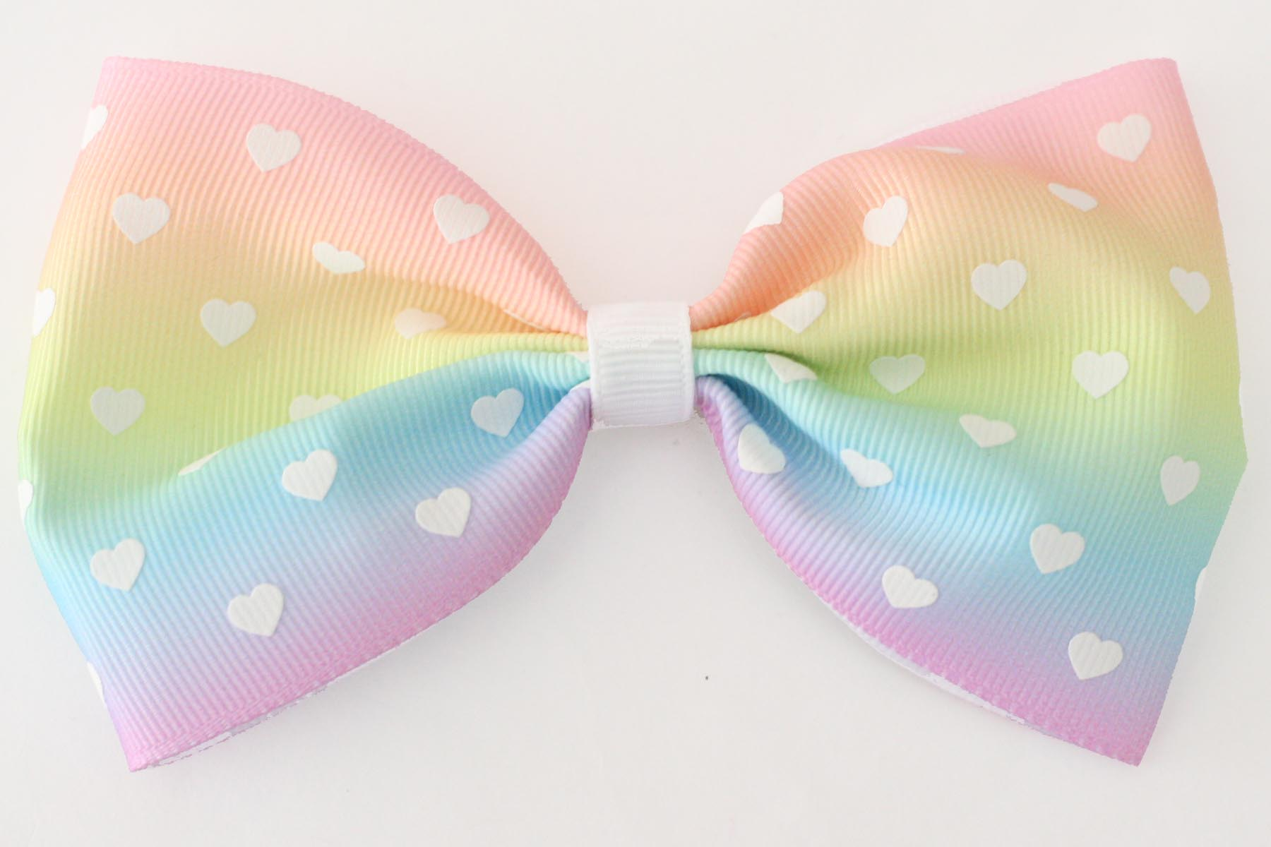 MEGA Rainbow Hearts Bow