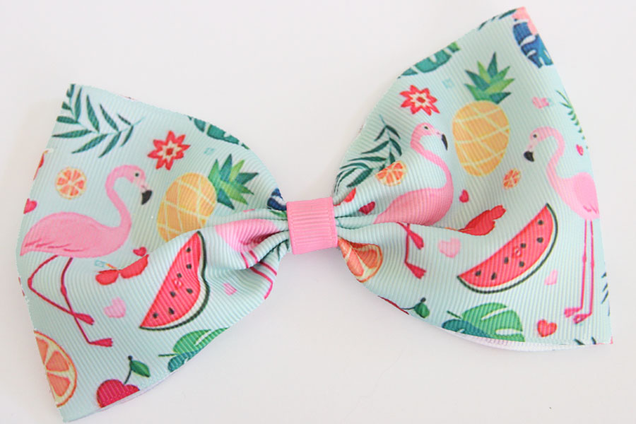 MEGA Summer Flamingo Bow