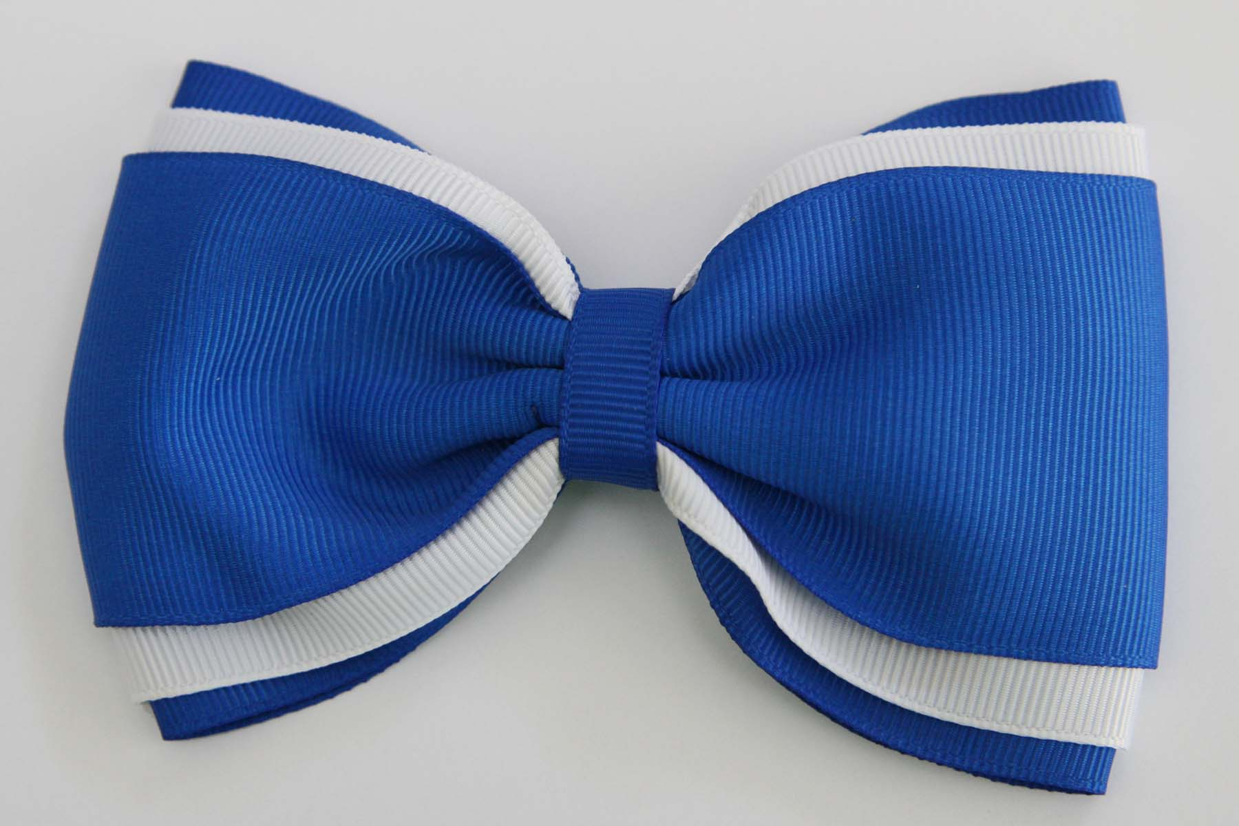 MTCC Triple-layered Mega Bow - Royal Blue & White
