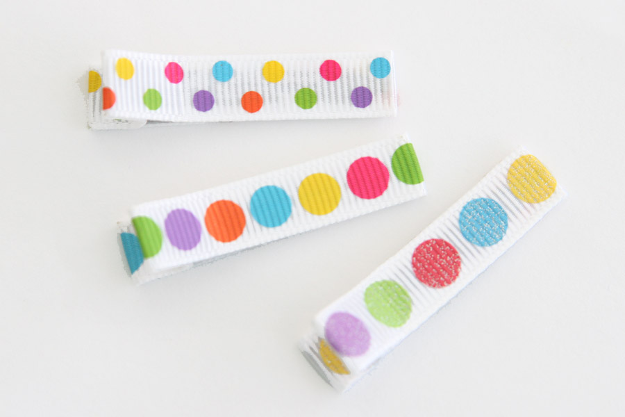 Bright Easter Dotty Clippies