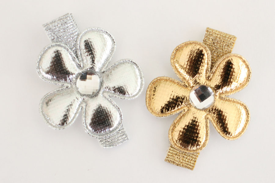 Metallic Silver & Gold Flowers