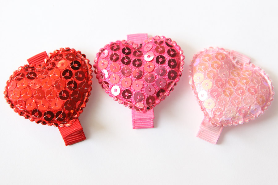 Valentines Day Sequin Heart Appliques