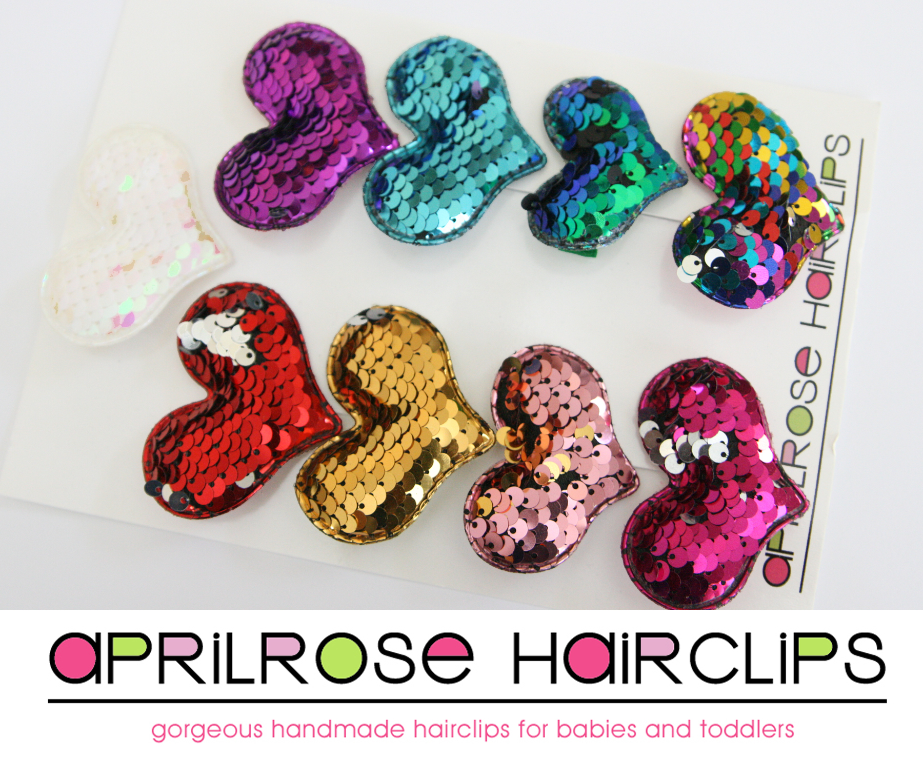 Reversible Sequin Hearts Set (9)