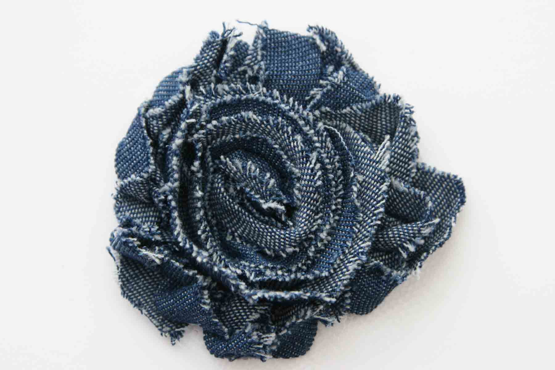 Shabby Chic Flower - Denim