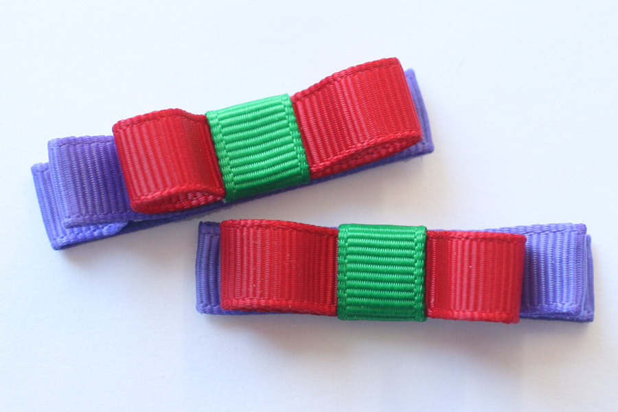 School Hairclip Basic Bows - Up to 3 colours!