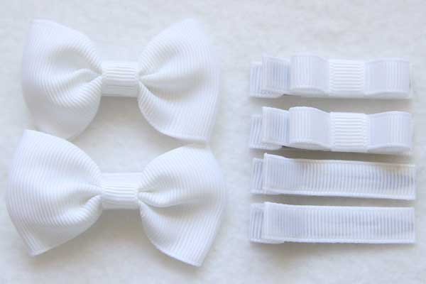 School Hairclip Sets - Solid Colours