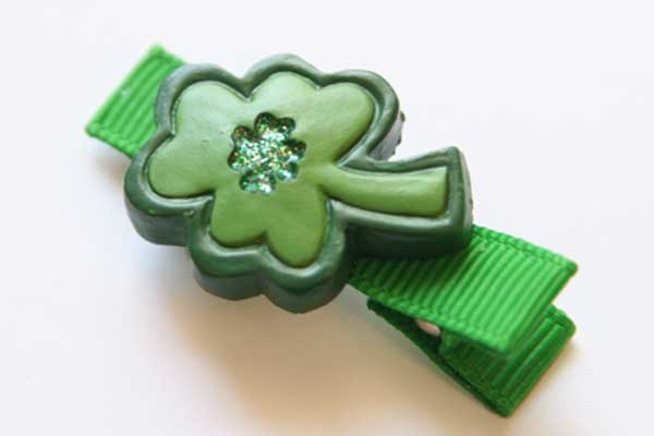 St Patrick's Day Resin Clips