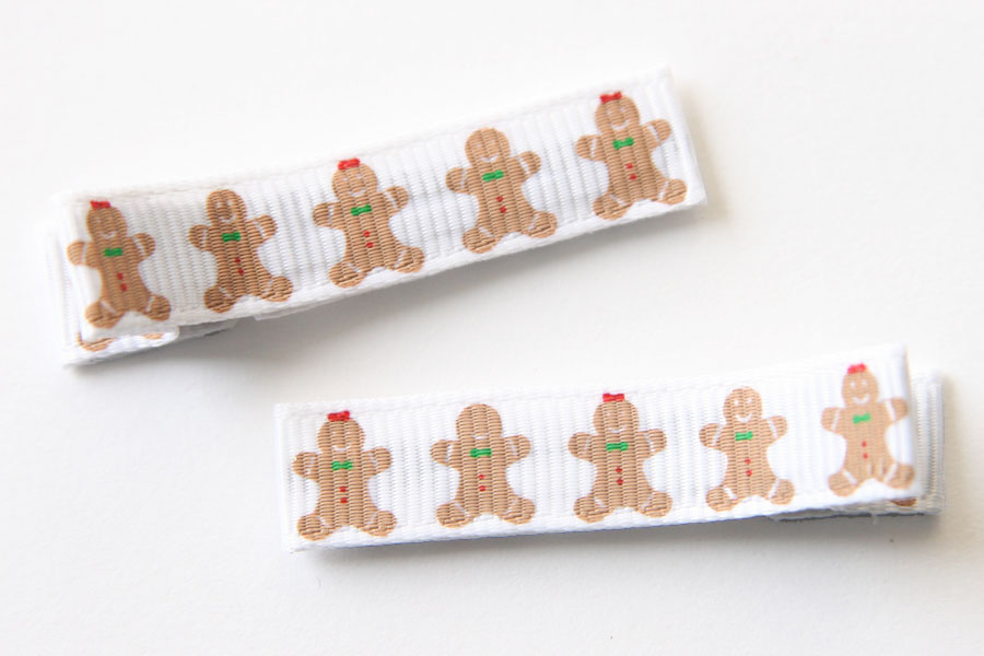 Christmas Gingerbread People Clippies Red & Green