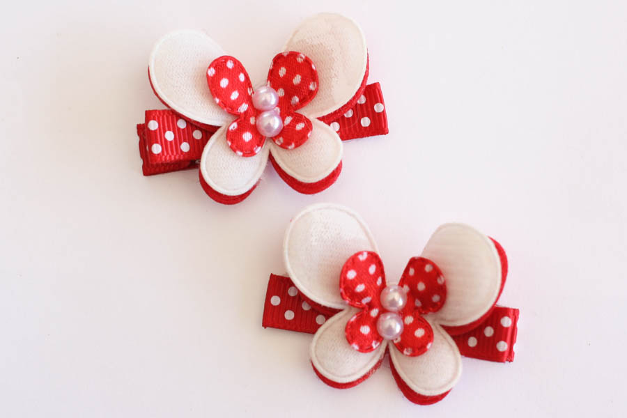 Christmas Red & White Popping Butterflies