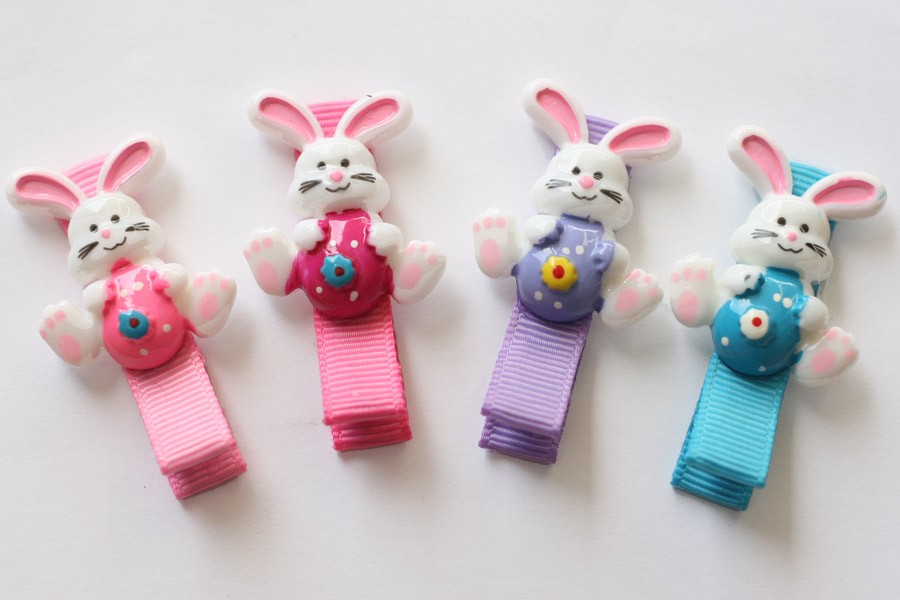 Easter Bunny & Egg Resin Clips
