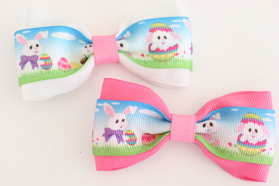 Deluxe Easter Bunny & Eggs Bow