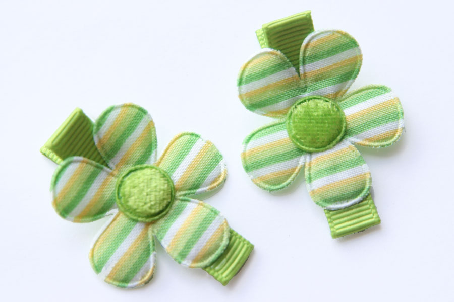St Patrick's Day Striped Flowers