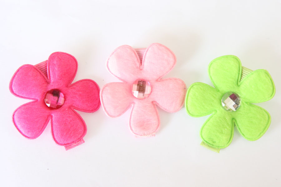 ARH Flowers with Rhinestone Centre - SET OF 3 - Click Image to Close