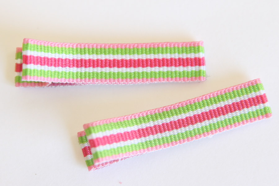 ARH Stripes Clippies - Pink, Green & White