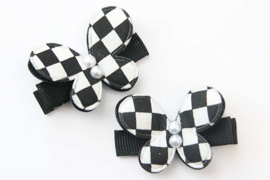 Black & White Chequered Butterflies