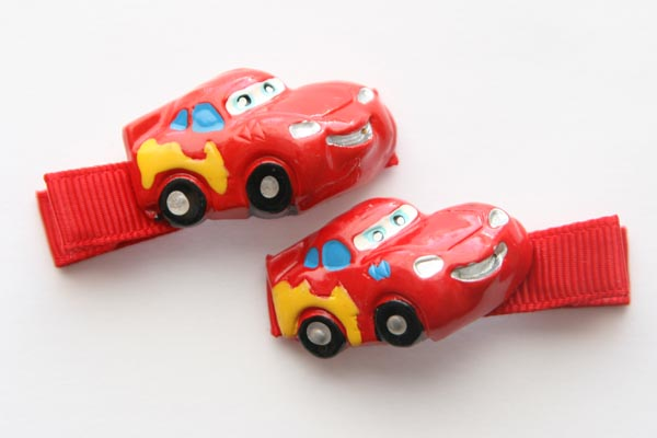 Lightning McQueen Racing Car Resin Clip