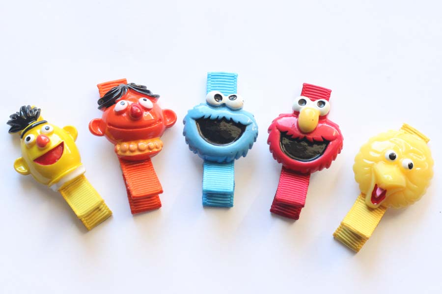 Sesame Street Resin Clips