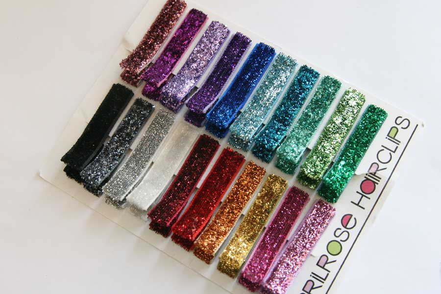 Glitter Clippies - Set of 20 clips