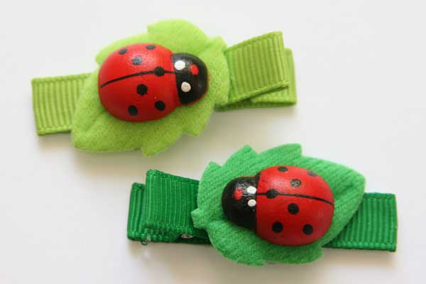 Lovely Ladybirds on Leaves