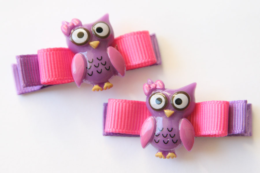Hoot Purple and Hot Pink Owl Resin