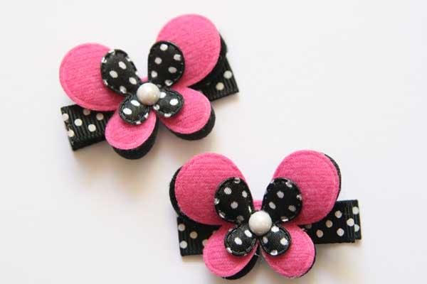Poppin' Pink & Black Butterfly